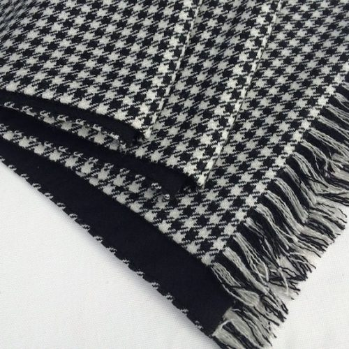 Black and White Shepherd Check Scarf