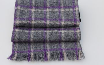 Highland Mist Cashmere and Wool Scarf