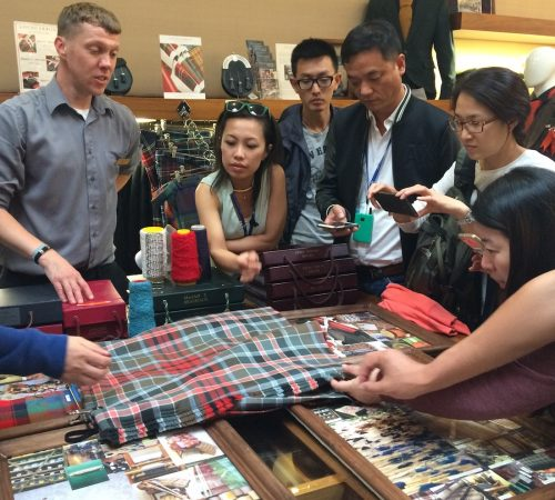 The Tartan Table Talk, part of our new Scottish Textiles Trail